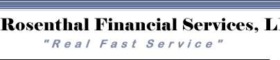 Rosenthal Financial Services, LLC. Real Fast Service